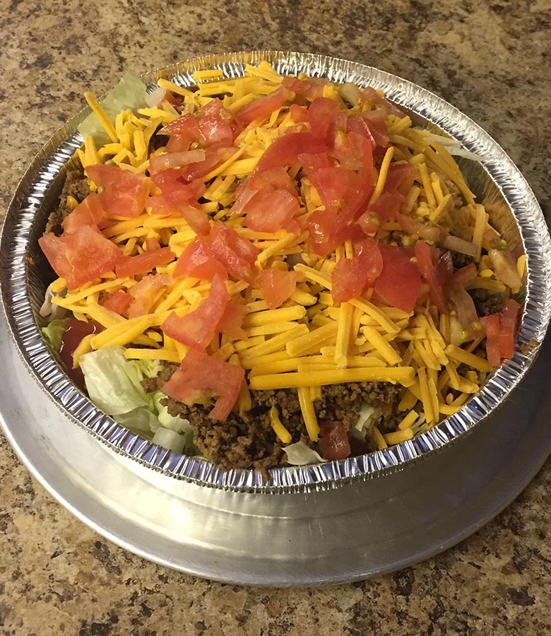 taco salad to go food