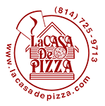 Offical La Casa De Pizza Logo 2018 footer