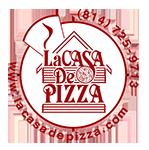 Offical La Casa De Pizza Logo 2018 footer